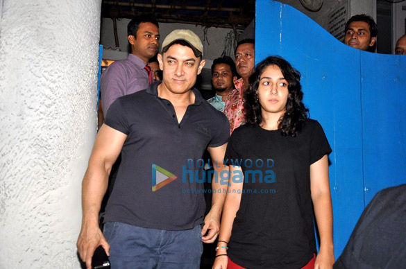 Aamir Khan snapped with his daughter Ira