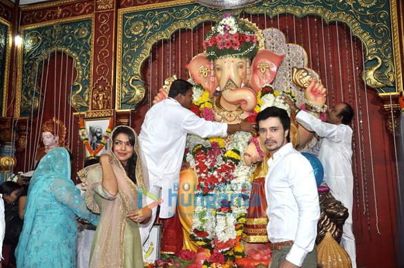Priyanka Chopra visits Andheri Cha Raja