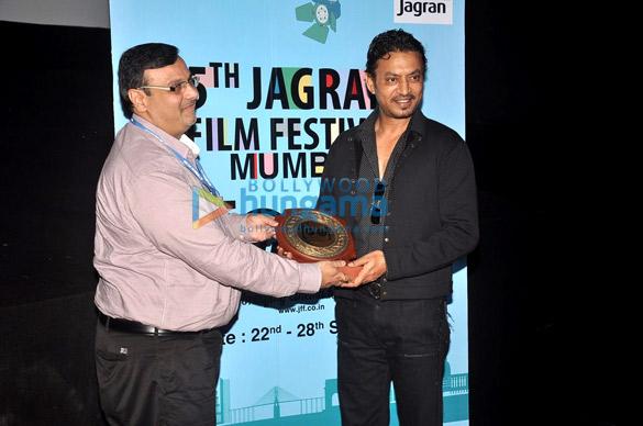 Neetu Chandra & Irrfan Khan at the opening ceremony of 5th Jagran Film Festival