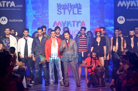 Ali Zafar walks for Men's Health at Myntra Fashion Weekend 2014