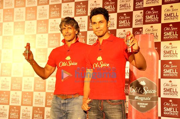 Milind Soman & Randeep Hooda promote Old Spice