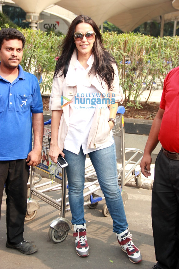 Neha Dhupia snapped at the domestic airport