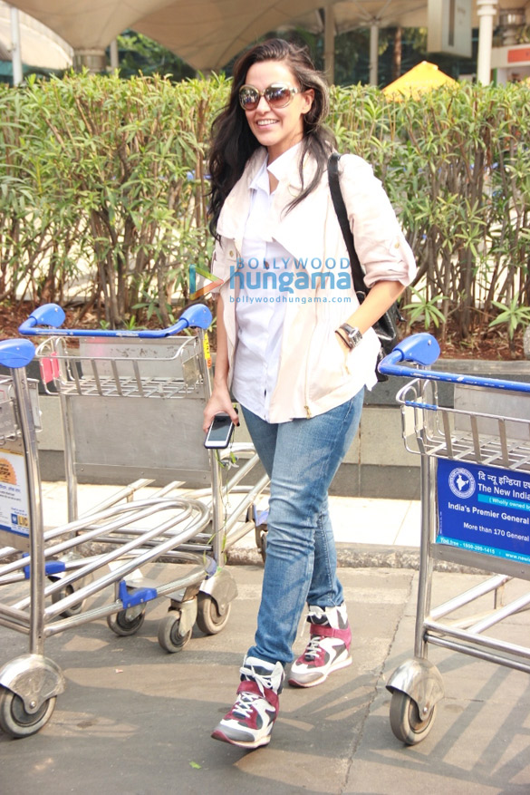 Neha Dhupia snapped at the domestic airport