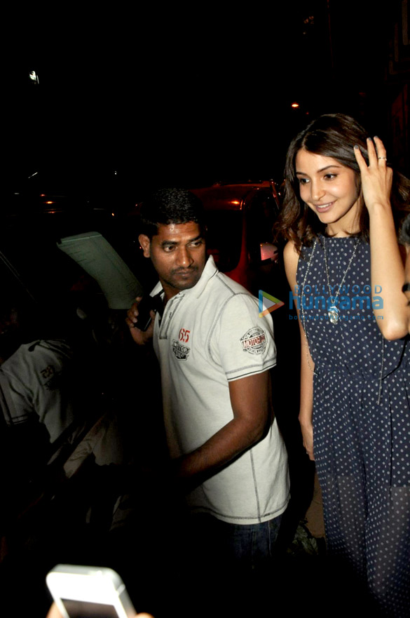 Anushka Sharma snapped outside Rajkumar Hirani's studio