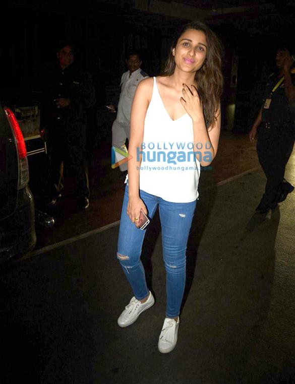 Parineeti Chopra arrives from Kolkata schedule of 'Meri Pyaari Bindu'