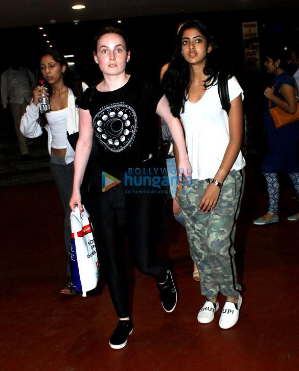 Aryan Khan and Navya Nanda with friends snapped at Mumbai airport