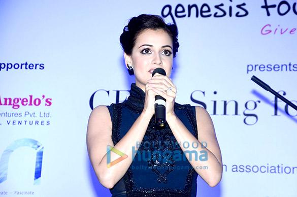 Dia Mirza & Tisca Chopra at Genesis Foundation's fund raising event