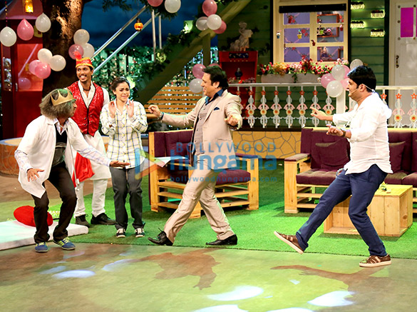 Govinda and his family snapped on the sets of The Kapil Sharma Show