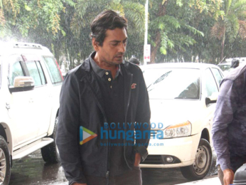 Nawazuddin Siddiqui snapped at the domestic airport