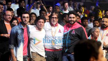 Shah Rukh Khan, Ranbir Kapoor and Virat Kohli grace the opening ceremony of Pro Kabaddi League along with Amitabh Bachchan and Abhishek Bachchan