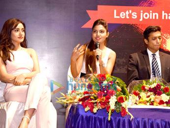 Rajeev Khandelwal, Neha Sharma & Avani Modi at the launch of 'Young Bhartiya'