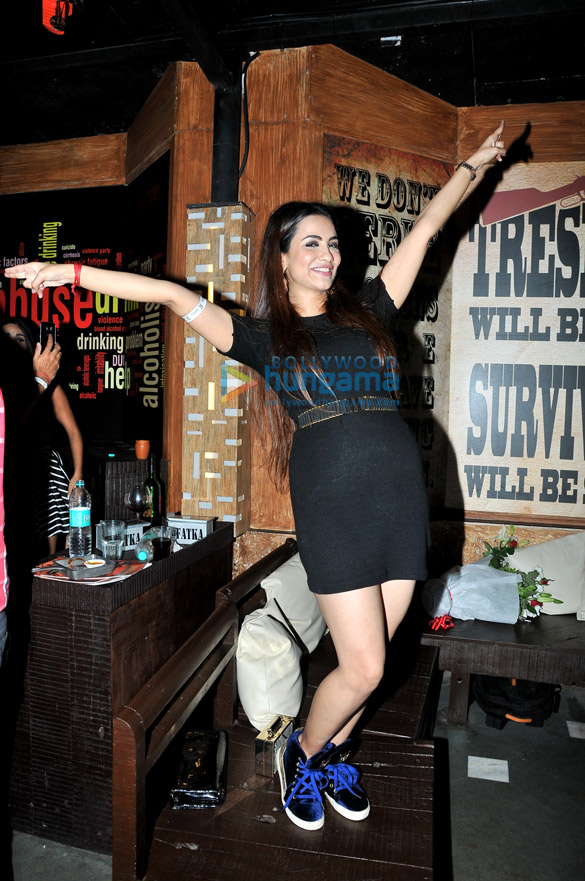 Sana Khan celebrates her birthday at R-Adda
