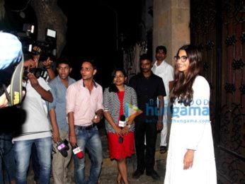 Sonam Kapoor meets the media post ringing in her birthday last night