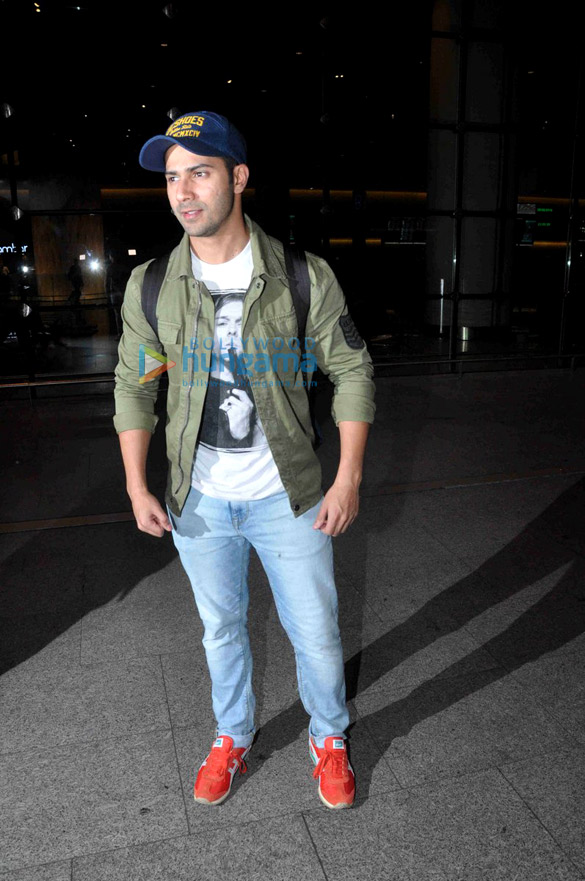 Varun Dhawan arrives back from Bangkok
