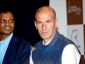 Zinadine Zidane at Kanakia Paris media meet