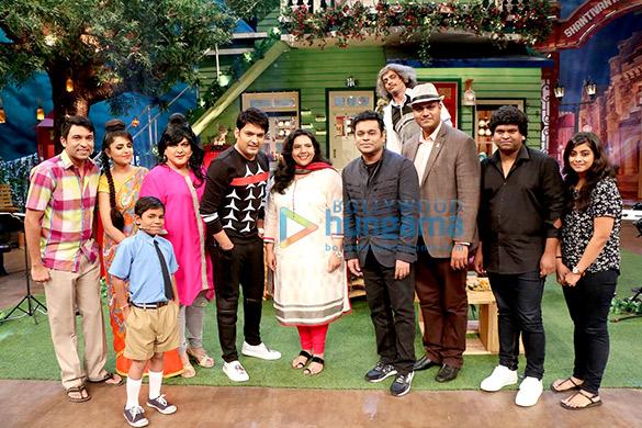 A R Rahman snapped on sets of The Kapil Sharma show