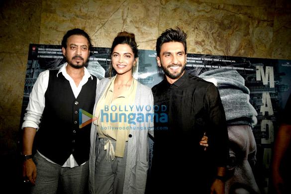 Deepika Padukone, Ranveer Singh & others at the special screening of 'Madaari'