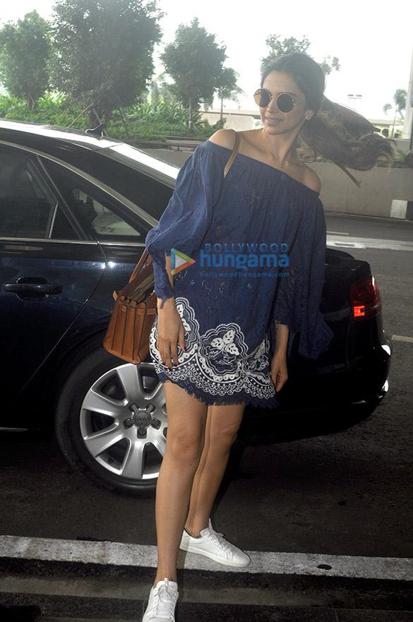 Deepika Padukone snapped leaving for Delhi