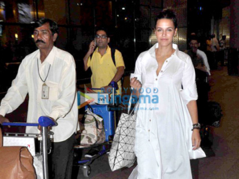 Huma Qureshi, Neha Dhupia, Abhay Deol & Kabir Khan arrive from Spain