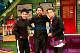 Irrfan Khan & Jimmy Sheirgill on the sets of The Kapil Sharma Show
