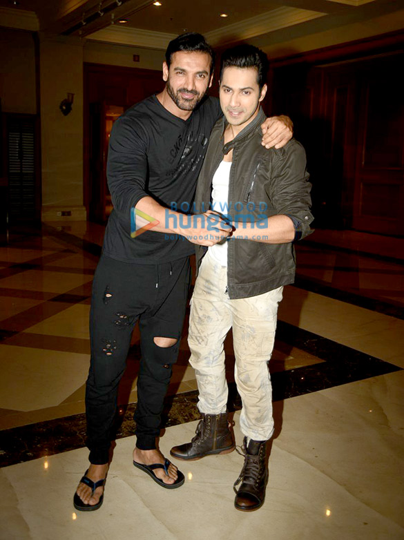 John Abraham & Varun Dhawan at 'Dishoom' promotions