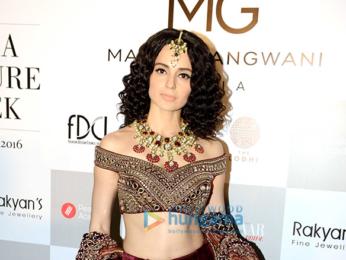 Kangna Ranaut walks the ramp for Manav Gangwani at the India Couture Week 2016