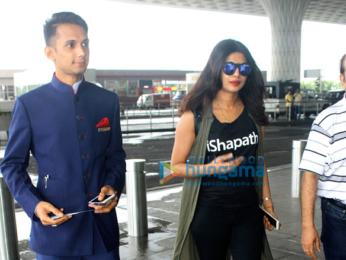 Priyanka Chopra departs for Delhi