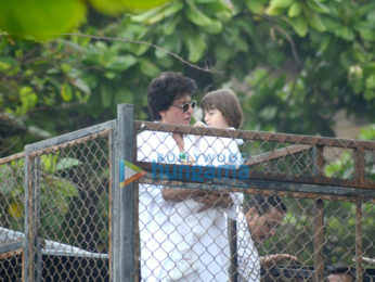 Shah Rukh Khan & AbRam Khan snapped on the occasion of Eid