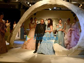 Saiyami Kher walks the ramp for Gaurav Gupta at the Couture week