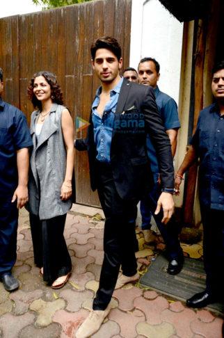 Sidharth Malhotra, Katrina Kaif, Karan Johar & Farhan Akhtar snapped at 'Baar Baar Dekho' promotional shoot