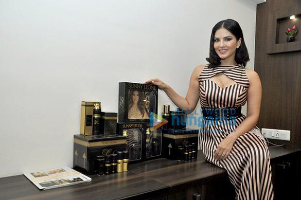 Sunny Leone unveils her Perfume brand LUST