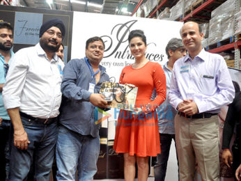 Sunny Leone visit Walmart store to promote her new perfume brand 'Lust'
