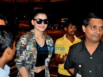 Urvashi Rautela departs to attend the SIIMA Awards in Singapore