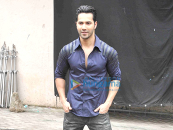 Varun Dhawan snapped during 'Dishoom' promotions