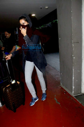 Nargis Fakhri, Yuvraj Singh & Hazel Keech spotted at the airport