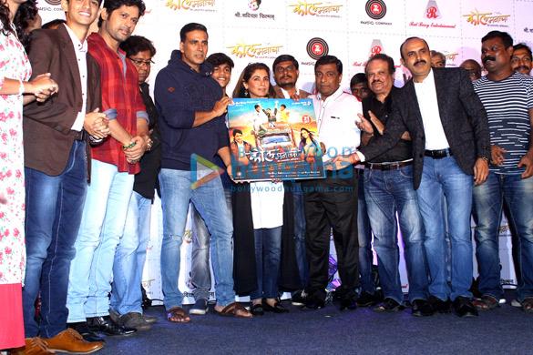 Akshay Kumar & Dimple Kapadia grace the music launch of Marathi film 'Kaul Manacha'