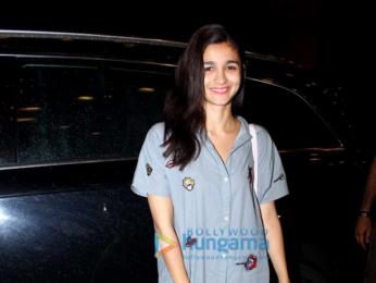 Alia Bhatt leaves for Spain
