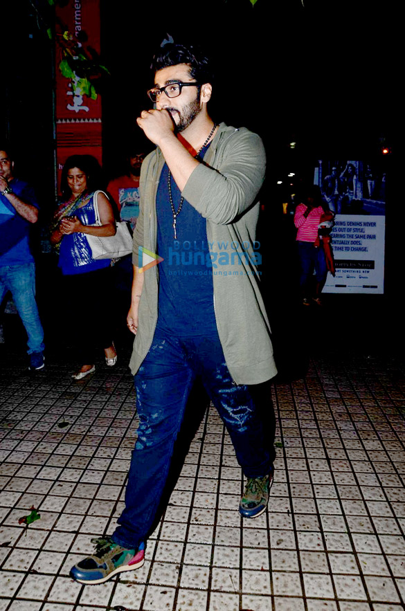 Arjun Kapoor snapped post a movie screening at PVR