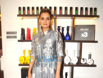 Dia Mirza & Adhuna Bhabani at the launch of BBlunt Salon in Malad