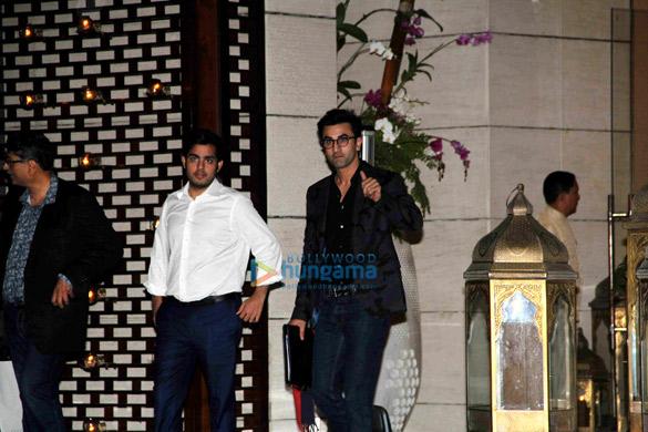 Ranbir Kapoor, Abhishek Bachchan, Varun Dhawan & John Abraham meet the ISL team owners at Ambani's residence