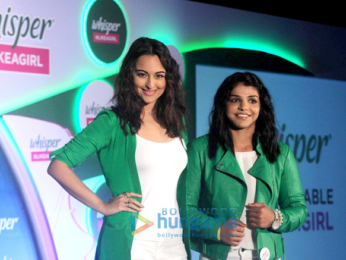 Sonakshi Sinha & Sakshi Malik grace the promotions of Whisper #LikeaGirl campaign