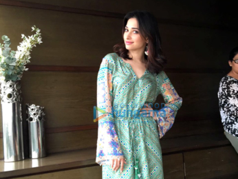 Tamannaah Bhatia snapped promoting her upcoming film 'Tutak Tutak Tutiya'