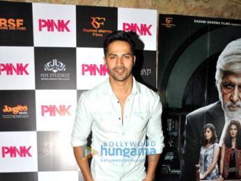 Varun Dhawan snapped post 'Pink' screening