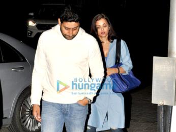 Abhishek Bachchan and Aishwarya Rai Bachchan snapped on a dinner outing in Bandra