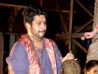 Bappi Lahiri & Bappa Lahiri at Durga Puja celebrations at the North Bombay Sarbojanin Durga Puja Samiti in Mumbai