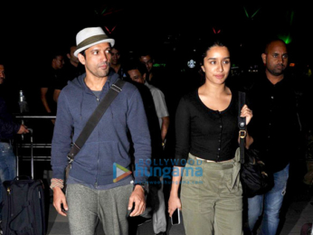 Farhan Akhtar & Shraddha Kapoor return from Shillong after shooting for Rock On!! 2