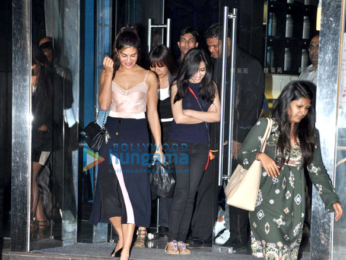 Jacqueline Fernandez snapped post dinner at 'Yauatcha'