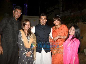 Karan Singh Grover & Bipasha Basu grace close friend Shaju's and Neelu's Diwali bash