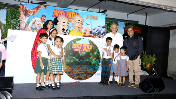 Gulzar & Vishal Bhardwaj at the music launch of 3D animation film 'Motu Patlu: King of Kings'