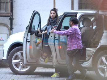 Parineeti Chopra & Sushant Singh Rajput snapped in Bandra suburbs